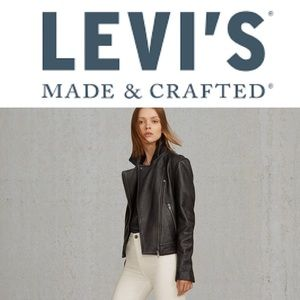 MADE IN ITALY -Levi's Genuine Leather Moto Jacket